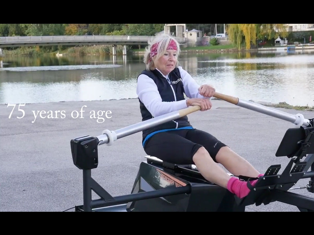 Biorower S1club Video rowed by a fit 75year old